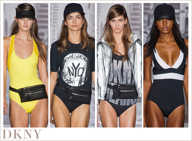 Swimwear by DKNY - young, bold and THE trend in 2013