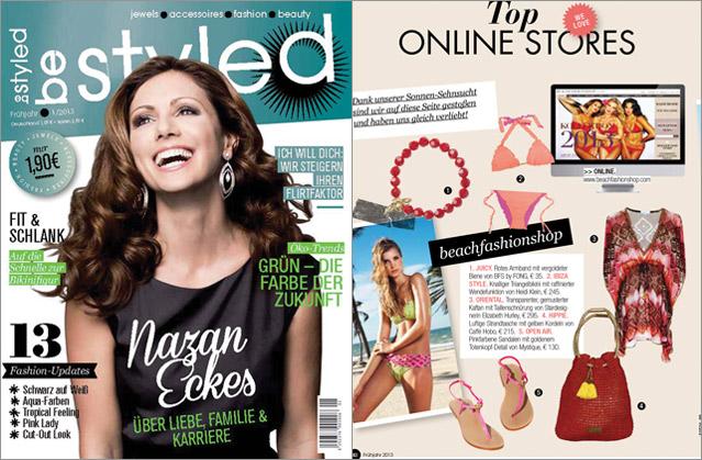 Das Fashionmagazin Be Styled schwärmt für die Bademode von beachfashionshop.com