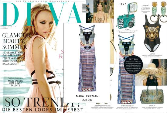Viva la Diva! Und das exotische Kleid Cleopatra von Mara Hoffman