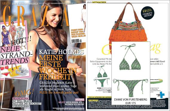 Hauptgewinn für Grazia-Leserinnen: der sexy Bikini von Diane von Furstenberg