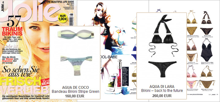 Style in pairs: Aqua de Coco and Aqua di Lara in the Jolie
