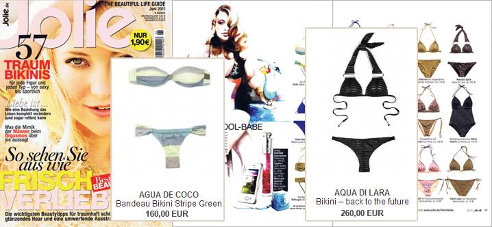 Estilo en doblete: Aqua de Coco y Aqua di Lara en Jolie