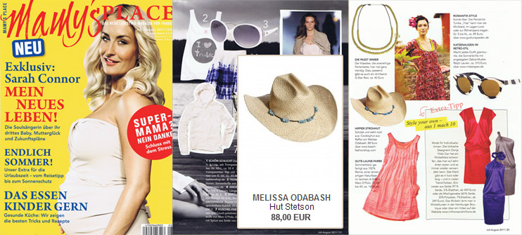 A hat by Melissa Odabash is an essential accessory - also for mums