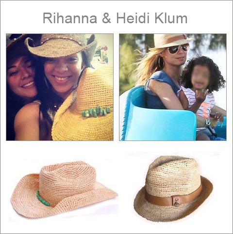 The hat to success: Rihanna and Heidi Klum are wearing Melissa Odabash