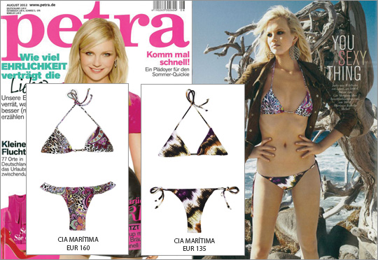 Hot!!! The bikini by CIA Maritima in the August edition of the fashion magazine Petra