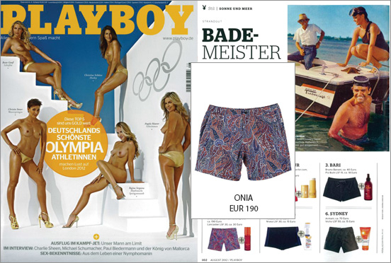 Playboy arouses and dresses: with the shorts by Onia for fashionable men