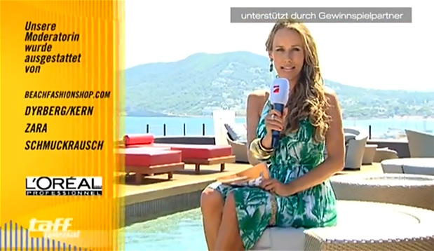 Summer, sun, style! Annemarie Warnkross wearing a dress from beachfashionshop.com