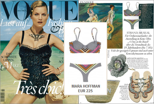 Truly En Vogue: the stylish bustier bikini by Mara Hoffman