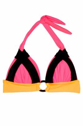 Triangel Bikini Neon Pink Mix