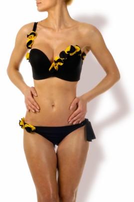 Luxury - Black Beauty Bandeau Push up Bikini