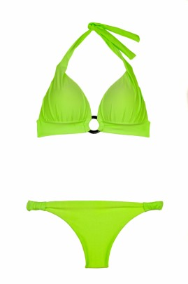 Glam Appeal - Green Neon Push up Triangel Bikini