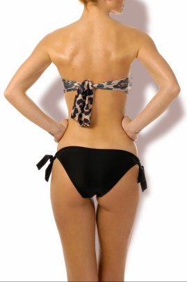 Glam Appeal - Sun Push up Bandeau Bikini Leoprint