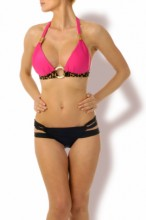 Pink Love Push up Triangle Bikini