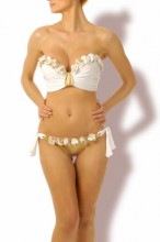 Glam Appeal – Magic Gold Push up Bandeau Bikini
