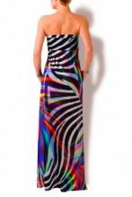 Regenbogen Maxi Kleid