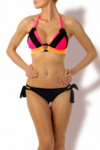 Triangel Bikini Neon Pink Mix