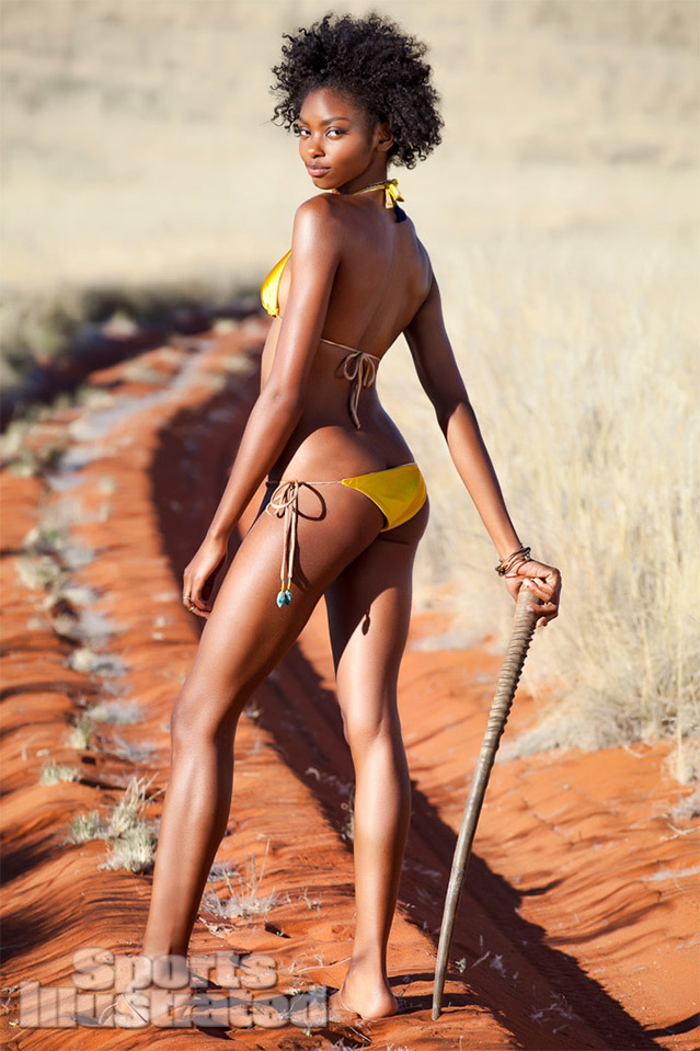 Sports Illustrated model Adaora in a bikini by Caffé Swimwear